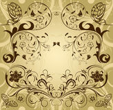 Collect flower border. Retro background with butterfly, element for design, vector illustration Royalty Free Stock Photos