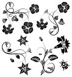 Collect flower border. With ladybug, element for design, vector illustration Stock Images