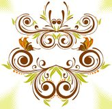 Collect flower border. With butterfly, element for design, vector illustration Royalty Free Stock Photography