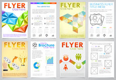 Collect Flyer Design Template Stock Images