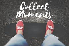 Collect Moments Adventure Enjoyment Explore Concept stock image