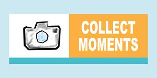Collect moments concept vector illustration