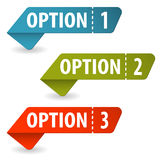 Collect Option Signs. With Tear-off Coupon, vector illustration