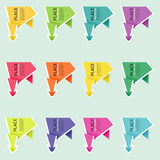 Collect Paper Origami Arrow Royalty Free Stock Images