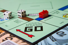Collect 200 and pass go Stock Photo