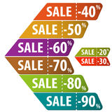 Collect Sale Signs Stock Photography