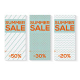 Collect Sale Signs with Tear-off Coupon, Royalty Free Stock Image
