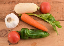 Collect. Sample collect of harvested vegetables stock photos