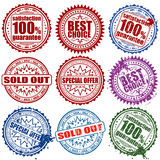 Collect stamps. Collection stamps to store, element for design, vector illustration Royalty Free Stock Photos