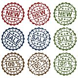 Collect stamps. Collection grunge stamps, element for design, vector illustration Royalty Free Stock Image