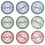 Collect stamps. Collection grunge stamps, element for design, vector illustration Royalty Free Stock Photography