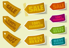 Collect Sticker royalty free illustration
