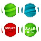 Collect Sticker Stock Photography