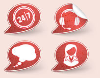 Collect Sticker with business woman icon Stock Image