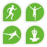 Collect Sticker with Sport Silhouettes Stock Photos