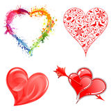 Collect Valentines Day Hearts Stock Images