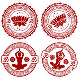 Collect Yoga stamps Royalty Free Stock Photography