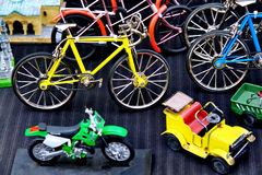 Collectable vehicles. Toys on display at a street market Royalty Free Stock Images
