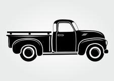 Collecte de vintage, camion Rétro véhicule de transport illustration stock