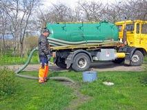 Collecte des déchets 2 Photo libre de droits