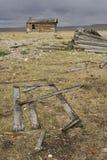 Collecte du ranch délabré de tempête Images stock