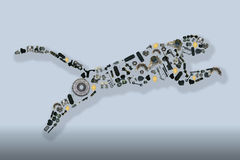 Collected by many spare parts of the jaguar. Image Royalty Free Stock Photography