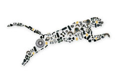 Collected by many spare parts of the jaguar. Image Stock Image