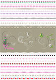 Collected patterned calligraphic border to to women holidays Stock Photo