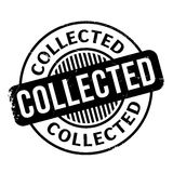 Collected rubber stamp Stock Photography