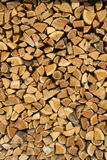 Collected wood. A crop of a well collected fireplace wood Stock Photos