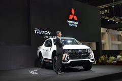 Collectes de Mitsubishi Triton dans l'expo internationale 2017 de moteur de la Thaïlande photo stock