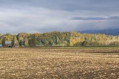 Collectes moissonnées dans la vallée de Fraser images libres de droits