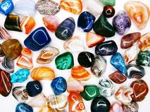 Collecti geologico dei cristalli del quarzo del granato dell'agata ametista del diaspro immagini stock libere da diritti