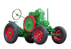 Collectible antique toy tractor. Collectible antique toy model tractor Royalty Free Stock Photography