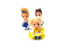 Collectible baby girl cute doll Royalty Free Stock Photos