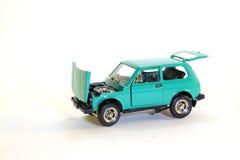 Collectible car model. Collectible Soviet model car Niva Lada-2121 Royalty Free Stock Photos