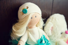 Collectible doll handmade Royalty Free Stock Photography