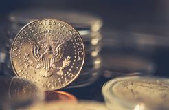 Collectible Half Dollar Coin Stock Photography
