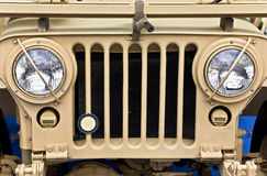 Collectible old ww2 jeep vehicle. In a war museum Stock Images