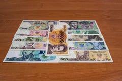 Collectible polsk folkrepublik för sedlar royaltyfri fotografi