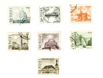 Collectible post stamps from Poland royalty free stock image
