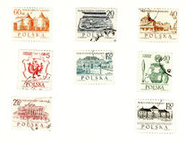 Collectible postage stamps from Poland royalty free stock photo