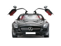 Collectible sport car Mercedes with open doors Stock Photography
