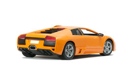 Collectible toy model car back view. On white background Stock Photo