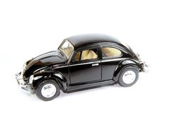 Collectible toy model car Volkswagen Beetle. Royalty Free Stock Image