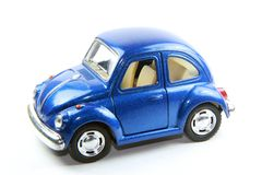 Collectible toy model car Volkswagen Beetle. royalty free stock images