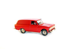 Collectible toy model red car. Collectible toy model red Soviet car Moskvitch Stock Images