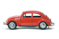 Collectible toy model retro car. On white background Royalty Free Stock Images