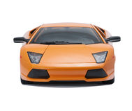 Collectible toy  sport car model. Front view  on white background Stock Images