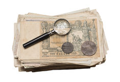 Collectibles铸造钞票奖 免版税库存照片